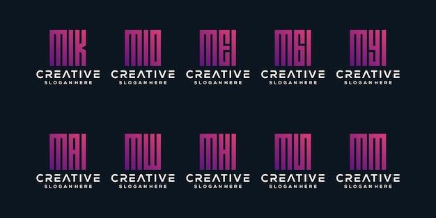 Установить букву м дизайн логотипа