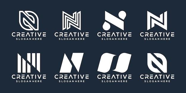Set of letter n logo design