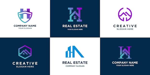 Set of letter real estate logo