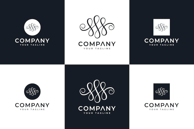Set of letter s luxury logo creative design for all uses