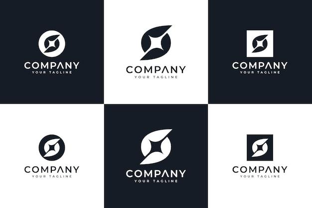 Set of letter s spark logo creative design for all uses