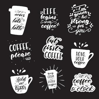 Set of lettering designs