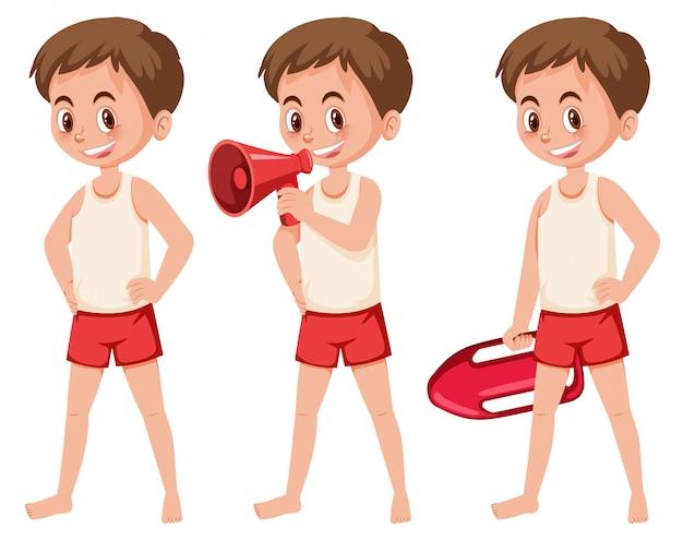 Set of lifeguard figures