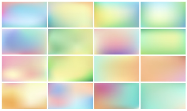 Set of light abstract backgrounds for children.