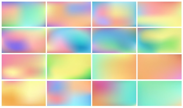 Set of light colored backgrounds
