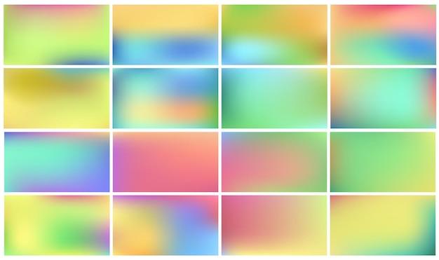 Set of light coloured backgrounds