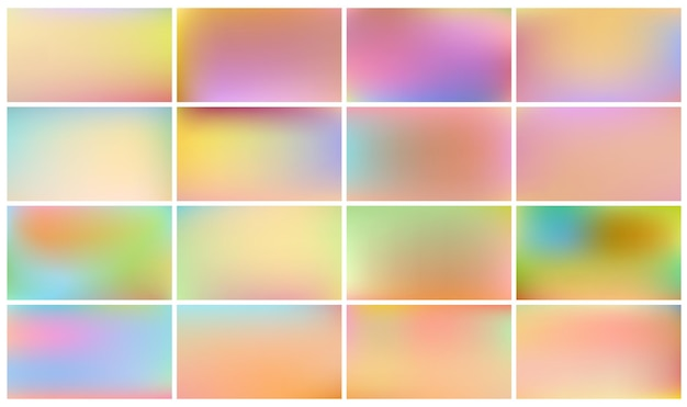 Set of light coloured children backgrounds.