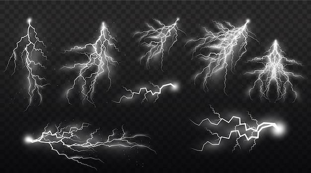 Set of lightning strikes