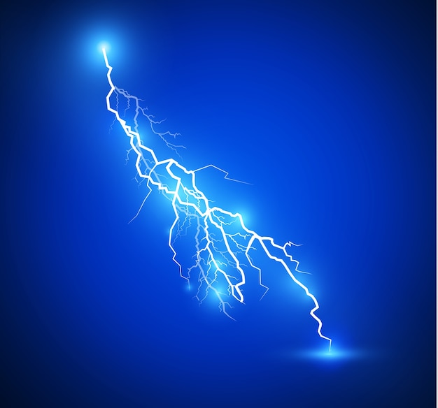 Set of lightnings illustration