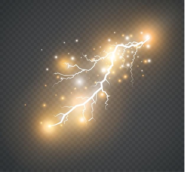 Set of lightnings illustration