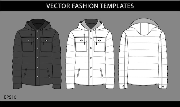 Set of lightweight puffer jacket