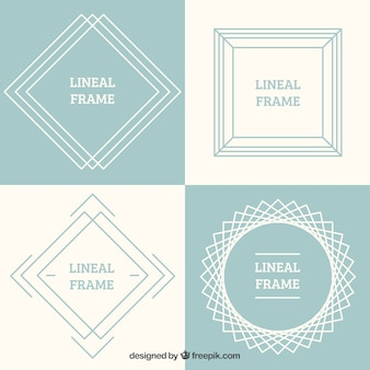 Set of lineal frames with shapes