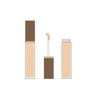 Set of liquid type concealers. cute and simple art style. on a white background.