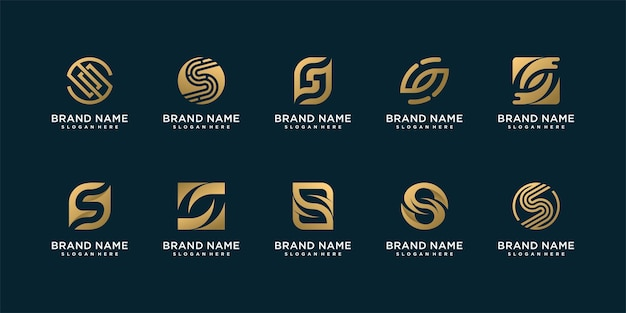 Set of lletter s logo collection with creative concept