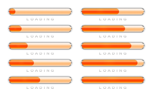 Set of loading icons.