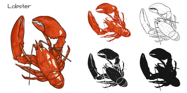 Set of lobster