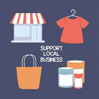 Set of local shop campaign, supports local businesses