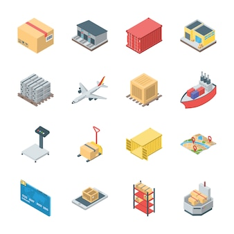 Set of logistics icons