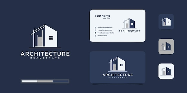 Set logo architecture with line concept logo inspiration