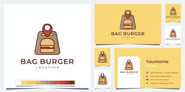 Set logo bag burger location template