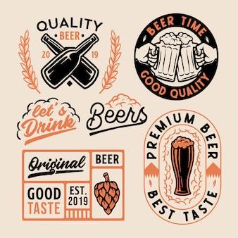 Set of logo beer