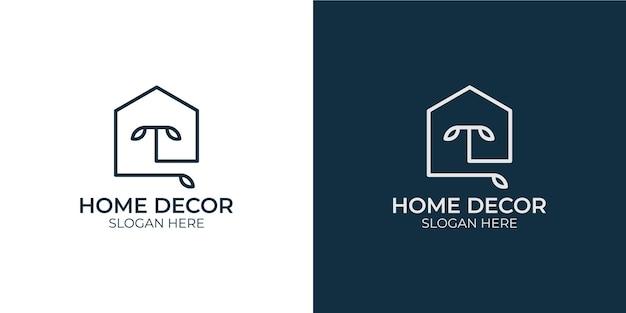 Set logo design home decor minimalist Premium Vector
