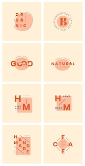 Set of logo design vectors