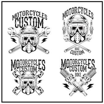 Set logo motorcycle