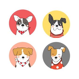 Img Freepik Com Free Vector Set Logo Of Cute Dog D