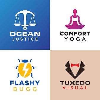 Set of logo templates