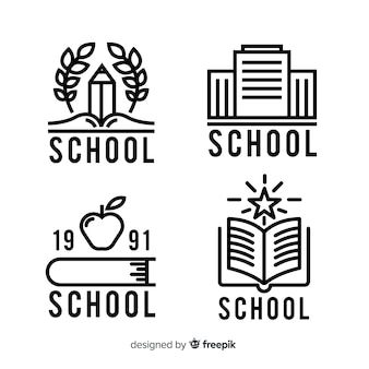 Set of logos for colleges or universities