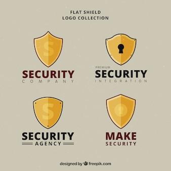 Set of logos shield