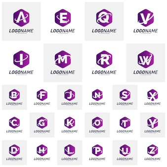 Set of logotypes design concepts. letter logo vector template