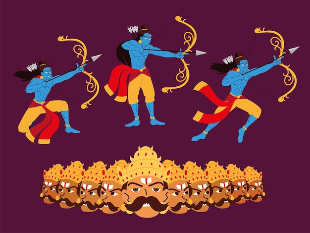 Set lord rama and ravana