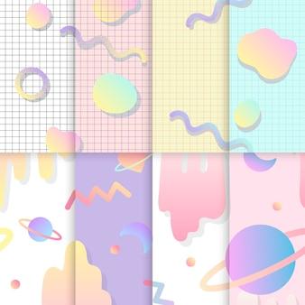 Set of love in space background vectors