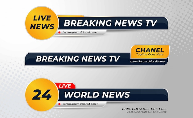 Set of  lower thirds banner template