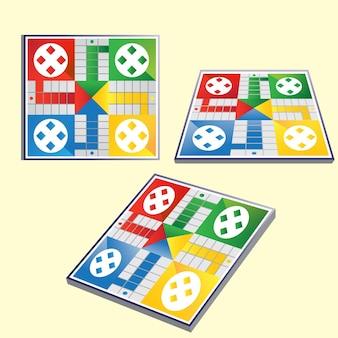 Set di prospettive di gioco da tavolo ludo