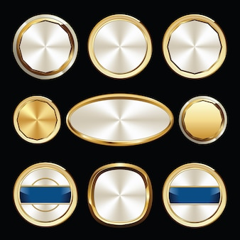 Set of luxury badges. set of seals and badges.
