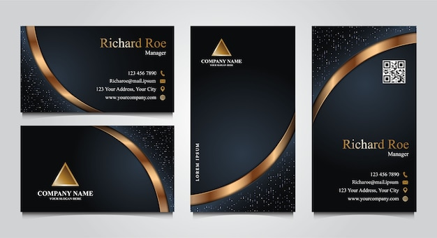 Set of luxury business card