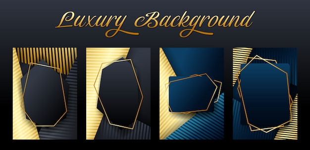 Set of luxury element background template