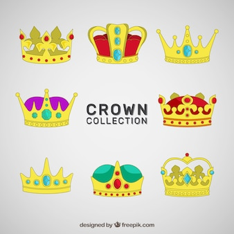 Set of luxury gold crowns