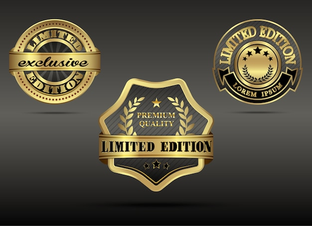 Set of luxury gold limited edition