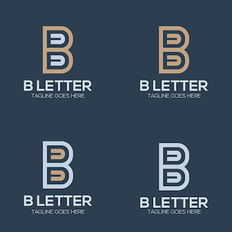 Set luxury initial letter b logo illustration for your company