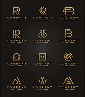Set luxury logo template