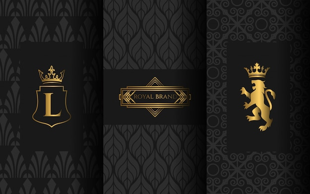 Set of luxury logo