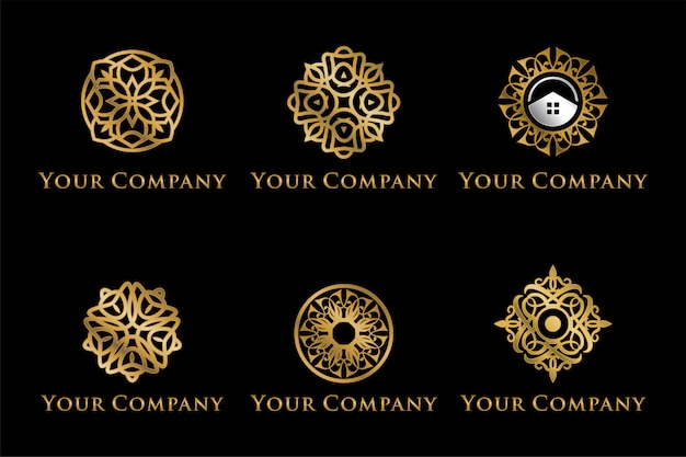 Set of luxury mandala logotypes