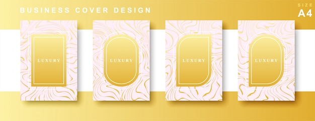 Set of luxury marble cover design