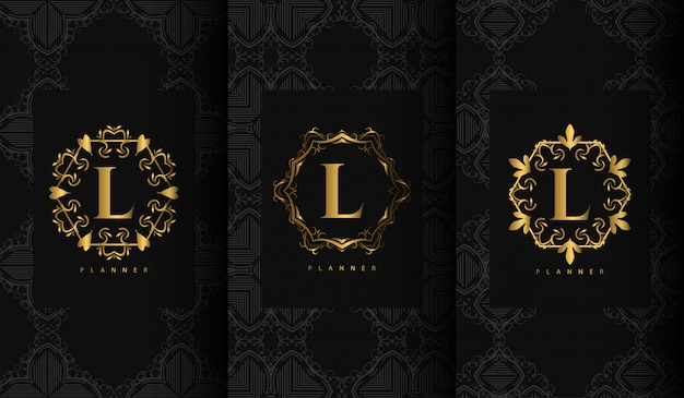 Set of luxury packaging templates