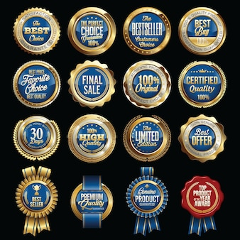 Set of luxury sales quality badges