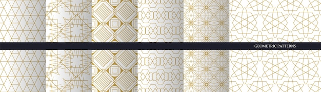 Set of luxury seamless art patterns